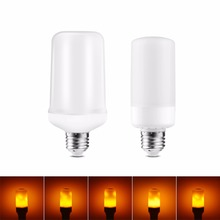 Led Flame Lamps Lampada Led E27 Dynamic Flame Effect Corn Bulb 220V 110V Simulation Flicker Burn LED Light Christmas Decoration(China)