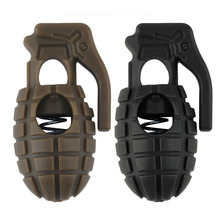 2pcs Grenaded Shape Shoe Shoelace Buckle Stopper Rope Clamp Cord Spring lock carabiner drop shipping