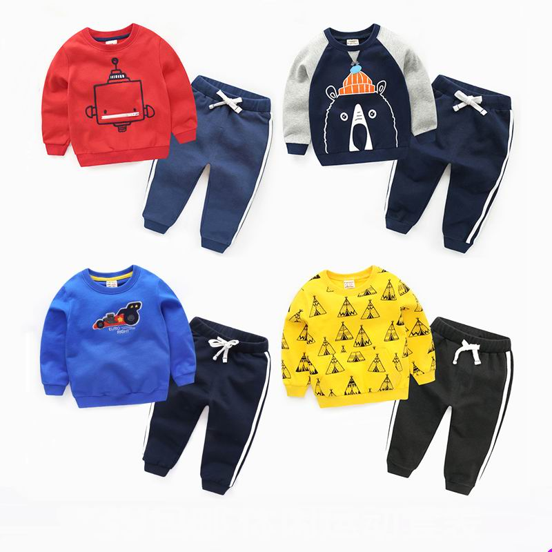 Child set 2017 spring and autumn girls clothing baby sports male child  children autumn coat set<br>