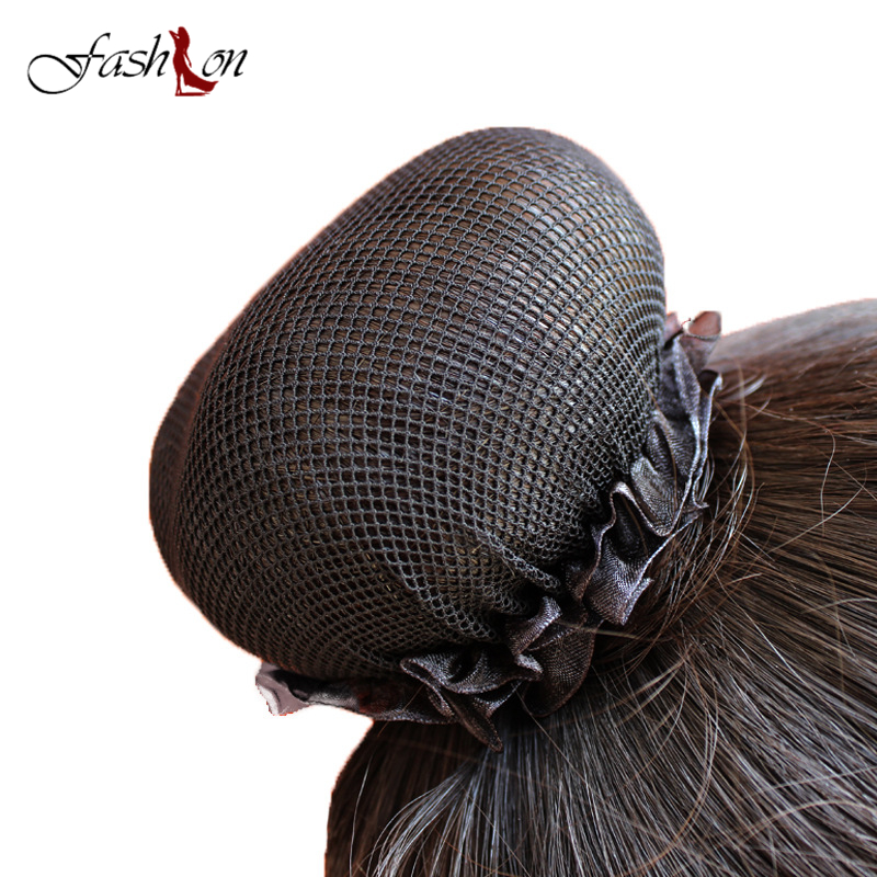 1PC Fashion Girl Women Dot Shiny Bun Cover Snood Ballet Dance Skating Hair Net Crochet Hairband Hair Accessories 2017 New Hot