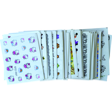 40sheets Mixed 40 Designs Nail Art Sets Water Transfer Decals Sticker Beauty Flower Cartoon DIY Decorations Tips TRSTZ041-080