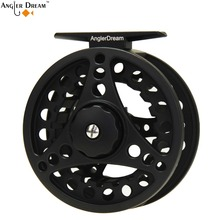 1/2 3/4 5/6 7/8WT Aluminum Fly Fishing Reel Black Adjustable Drag Large Arbor Right or Left-Handed Fly Fishing Reel