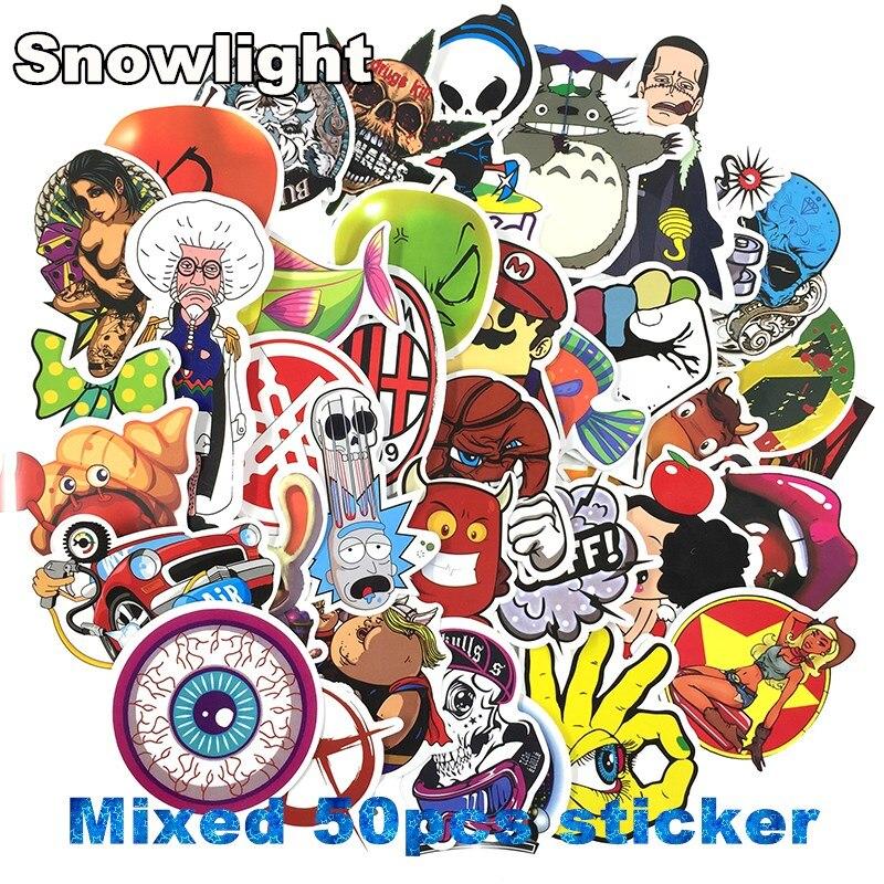 50 pcs/lot Classic Fashion Style Graffiti Stickers For Moto car & suitcase cool laptop stickers Skateboard sticker