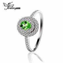 Women Romantic Oval Cut Green Tourmaline 925 Silver Ring 2016 Anniverary Jewelry Wholesale Price New Bridal Healing Jewellery(China)