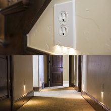 Foxanon 110V Sensor Nightlight Duplex / Decor LED Snap Wall Outlet Coverplate LED Kitchen Hallway Bedroom Emergency Safety lamp