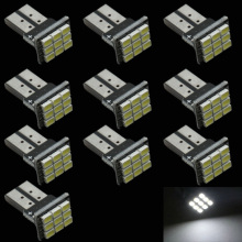 CQD-Light 10pcs/lot white T10 9 smd 1206 super bright Auto led car led light/t10 wedge led auto lamp
