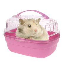 Hamster House Transparent Cabin Cage for Hamster Small Animals Carrier Case Home Carry Cage Plastic Cute Pet Hamster Cage