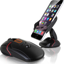 Wangcuangli Universal Car Phone Stand Holder One Touch Mouse Suction Cup Cradle For iphone X 8 8plus Huawei P10 lite xiaomi 5(China)