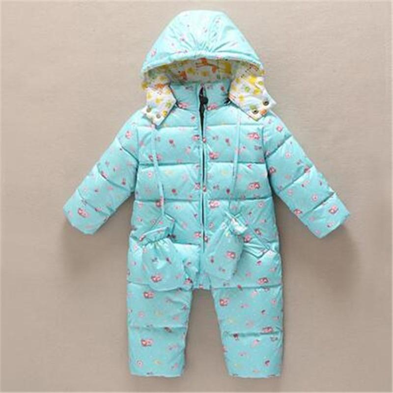 Newborn Baby Clothes Winter Baby Conjoined Down Jacket Toddler Kids Snow Wear with Gloves Very Warm Coveralls 12M-18M-24M-3TÎäåæäà è àêñåññóàðû<br><br>