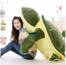 Dorimytrader 59'' / 150cm Huge Stuffed Soft Plush Giant Animal Turtle Cartoon Tortoise Toy Nice Kids Gift Free Shipping DY60824
