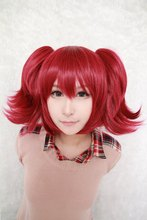 MCOSER Black Butler-Mey Rin Red Anime Cosplay Costume Ponytails Wig