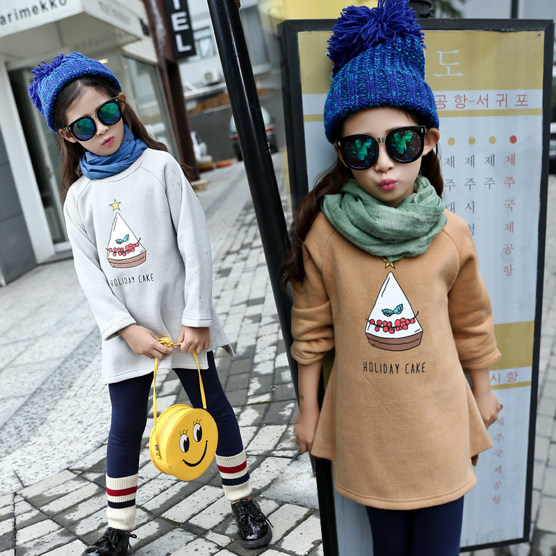 2017 Winter Dresses For Teenagers Girls Clothing 5 6 7 8 9 10 11 12 13 Years Girl Dress Long Sleeve Print Kids Casual Dress<br><br>Aliexpress