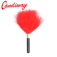 Buy Candiway feather whips bdsm Adult Game Alternative sex toys Flirting Fetish sex Spanking Paddle Whip Flogger Couples
