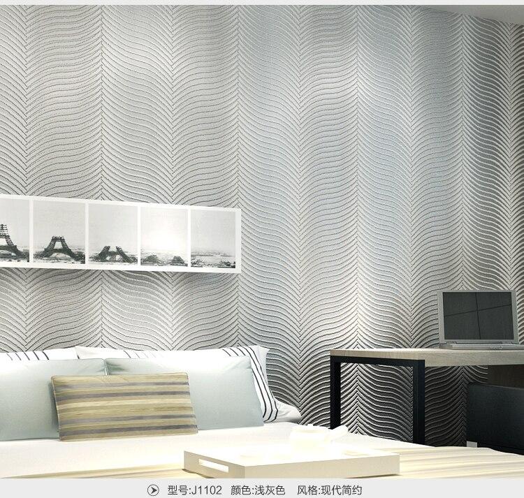 2017 Modern Abstract Zebra Design 3D Vertical Stripes Mural Wallpaper Decor papel de parede Silver Gray Brown  para sala atacado<br>