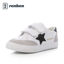 Kids shoes for girl boys shoes Artificial leather 2017 spring autumn new boys girls shoes white shoes fashion sneakers(China)