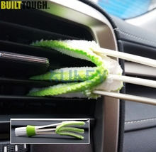 Car Auto Air Vent Dash Dashboard Detailing Interior Brush Dust Collector Computer Keyboard Cleaner Window Blinds Cleaning Tool