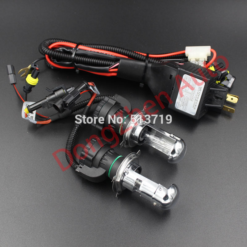2015 new HID Bi-Xenon Bi Xenon H4 6000K Hi Lo Beam Light Bulbs 12V 35W Harness Controller For ford Audi vw and so on<br><br>Aliexpress