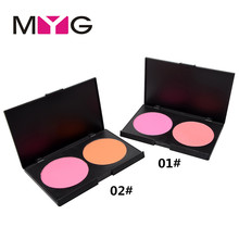 GH705 # MYG double colour blush red rouge 2 colour solid blush 30 g makeup artist recommend!