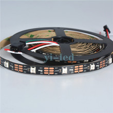 5m/10m/20m/50m/100m DC5V SK6812 WS2812B 5050 RGB LED Strip 30 pcs/m Full color RGB dream color changing 1 IC drives 1 led chip