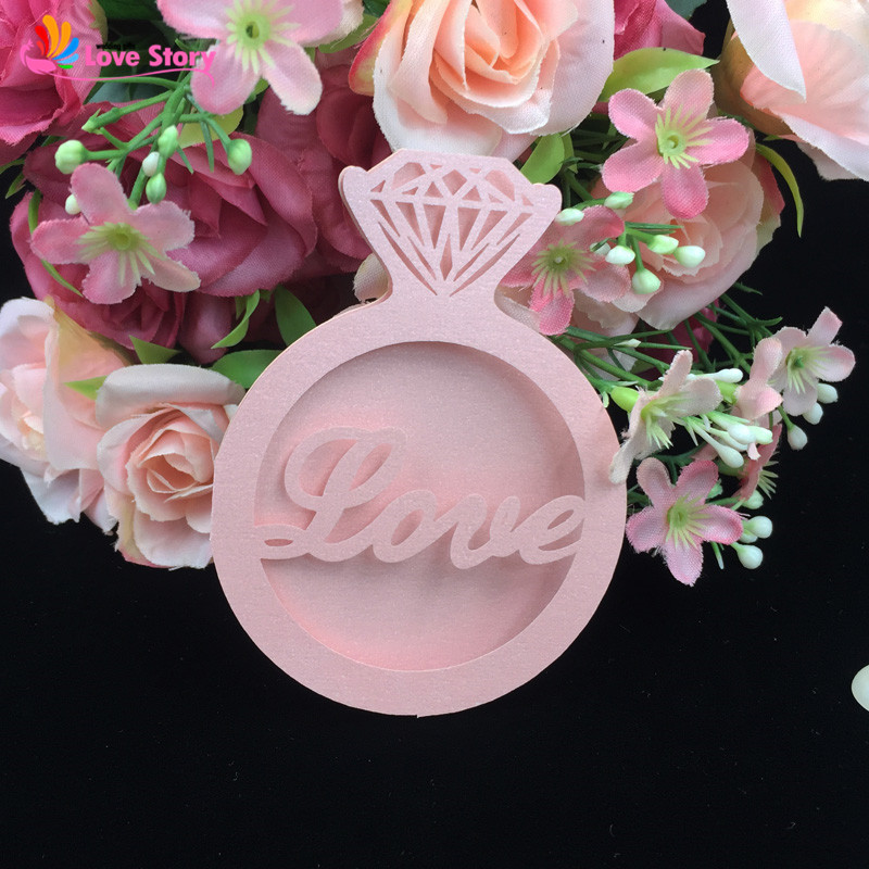 10pcs/lot Diamond Rings Love Design Invitation Card Favor Cards Laser Cut Wedding Invitation Party Supplies Wedding Decoration(China)