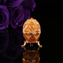 QIFU New arrive cheap Gold faberge egg home decoration accessories(China)