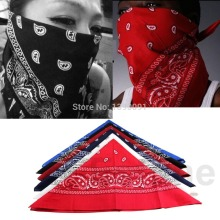 J1171 pc Cotton Scarf Paisley Bandana HeadWrap Hair wrap Double Side Print Headband