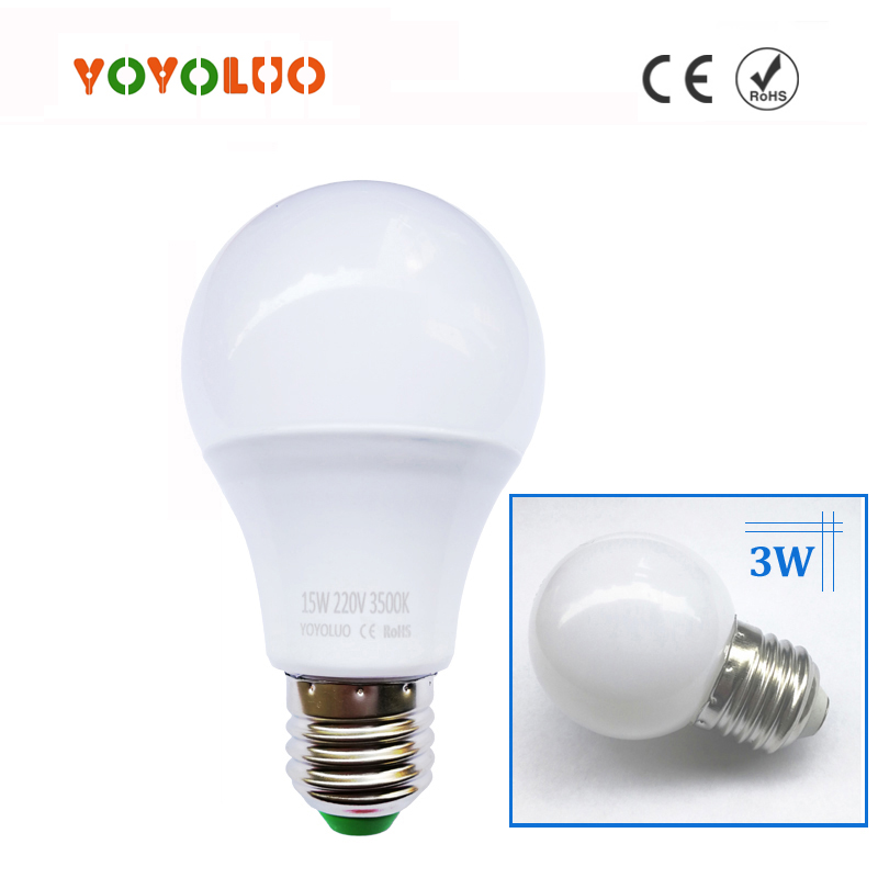 Energy Saving Ampoule E27 LED Bulb Lights 110V 220V 240V B22 LED Lamp 3W 5W 7W 9W 12W 15W High Power Lamparas LED Light Bulbs(China (Mainland))