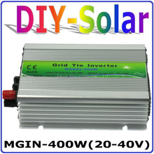 solar system 2017 New!! DC20~40V MGI 400W Grid Tie Inverter for Solar Panel 30V/60Cells, 90-260VAC Pure Sine Wave Inverter 400W(China)