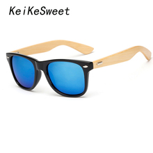 KeiKeSweet Hot Top Bamboo Man Lady Brand Designer Mirror Sun Glasses Rayed UV400 Wood Cool Shades Master Rivet Sunglasses K1501