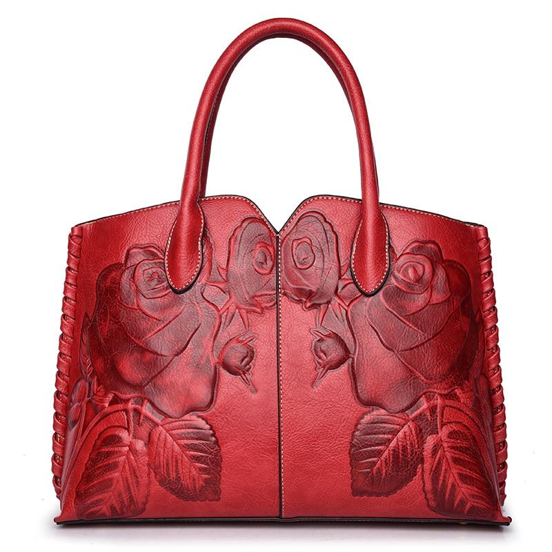 Women Handbag New 2018 Chinese Style Vintage Bags Flower Embossed Shoulder Bag Large Floral Handbags Shell Bags Tote<br>