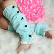 1 Pair Fashion Winter Warm Kids Girls Baby Soft Acrylic Polyester Leg Warmers Trendy Child Solid Knitted Boot Cuffs Topper Socks