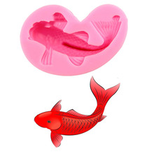 3D Fish Silicone Mold Fimo Fondant Cake Decorating Candle Soap Chocolate Utensils Baking Pastry Kitchen Tools Stencil Cozinha(China)