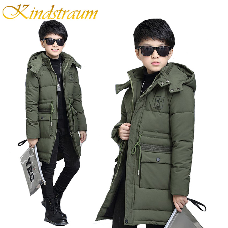 Kindstraum Super Warm 2017 Kids Boys Hooded Coat Fashion Boys Winter Cotton Parkas Thick Jackets Children Solid Outwear, MC767<br>