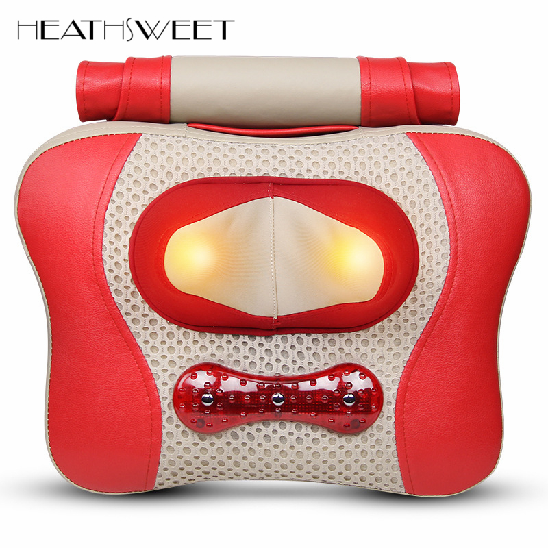 Healthsweet Infrared Heated Electric Massage Pillow Cervical Vertebra Massager Household Neck Waist Back Shoulder Massage Device<br>