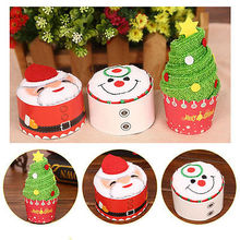 2017 New Arrived Christmas Creative Cake Towel Gift Washcloth Dishcloth Xmas Cute Towel Presents(China)