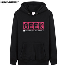 2017 A Binary Lifestyle man's regular hoodies & sweatshirts 3XL top brand GEEK fan's must have pullover fleece thicker U.S.size