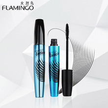 China Top Mascara Brand Flamingo charm eyelashes thick Mascara Water remover magical Enticing dense mascara 6365(China)