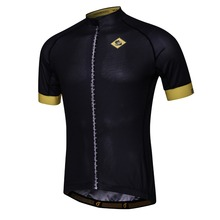 Accept Custom Men's Cycling Jersey Breathable Short Sleeve Bicycle Bike Jersey Shirt Sport Wear Skinsuit Summer Black/red Color