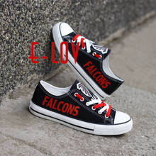 High Quality Atlanta Falcons Football Team Print Casual Shoes Black Red White Logo Cavans Shoes Custom Any Styles Teams(China)
