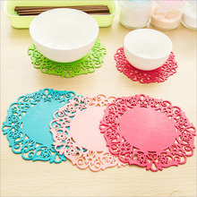 Colorful Soft Rubber Coaster Cup Mat Pad Hot Mug Glass Plate Silicone Cup Mat(China)