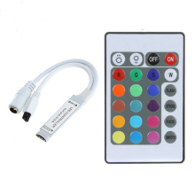Mini DC12V 24Key RGB Controller IR Remote Controller With Mini Receiver For 3528/5050 RGB LED Strip Light /Led Tape Controller