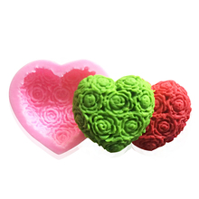 New Arrival 1pc heart shape Silicone Cake Mold DIY Chocolate Soap Molds Sugar Craft Cake Decorating Tools Form for cakes(China)