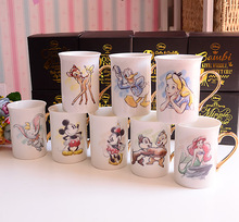 New Arrival Original The Little Mermaid Alice Princess Dumbo Elephant Cute Cartoon Porcelain Coffee Milk Mugs Cup Gift