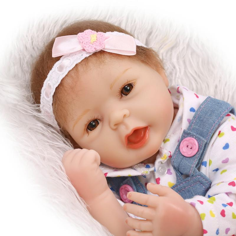 20 inch 52 cm  baby reborn Silicone dolls, lifelike doll reborn babies for  Childrens toys Cute baby jeans<br><br>Aliexpress