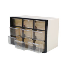 9 Grid Transparent Plastic Storage Cabinet Multi Layer Drawer Save Space Box Cabinets Food Sundries Organizer Home Accessories(China)