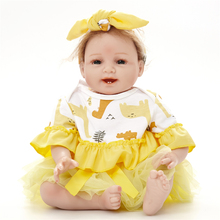 "55cm 22"" Silicone reborn baby doll toys for girl, lifelike reborn babies play house toys birthday gift girl brinquedos bonecas(China)"