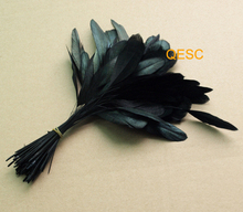 NEW FREE SHIPPING,14-19cm cocktail feather for fascinator/church hat /sinamay hat/party mask/wedding hat(China)
