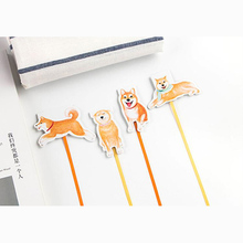 1X Kawaii Cute Shiba Lovely Dog Magnetic Bookmarks With Ribbon Books Marker of Page Stationery Office Supply Kids Rewarding