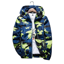 Spring/Autumn Men'S Reflective Jacket Camo Baseball Men Casual Basic Windbreaker Hoodie Clothing Jaqueta Masculino Z40 JK69(China)