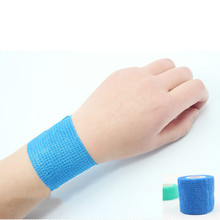 Colorful Self Adhesive Ankle Finger Muscles Care Elastic Medical Bandage Gauze Dressing Tape Sport Wrist Support 5cm 1Pc(China)